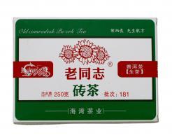 """Шен Пуэр кирпич """"Лао Тун Чжи, 9968"""" 250 гр._0"""